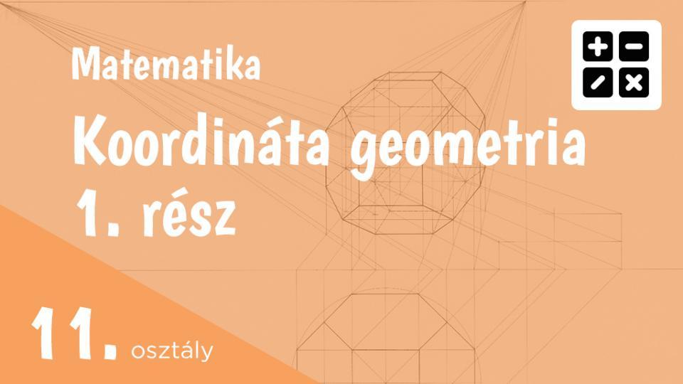 Koordináta geometria 11. osztály 1. rész