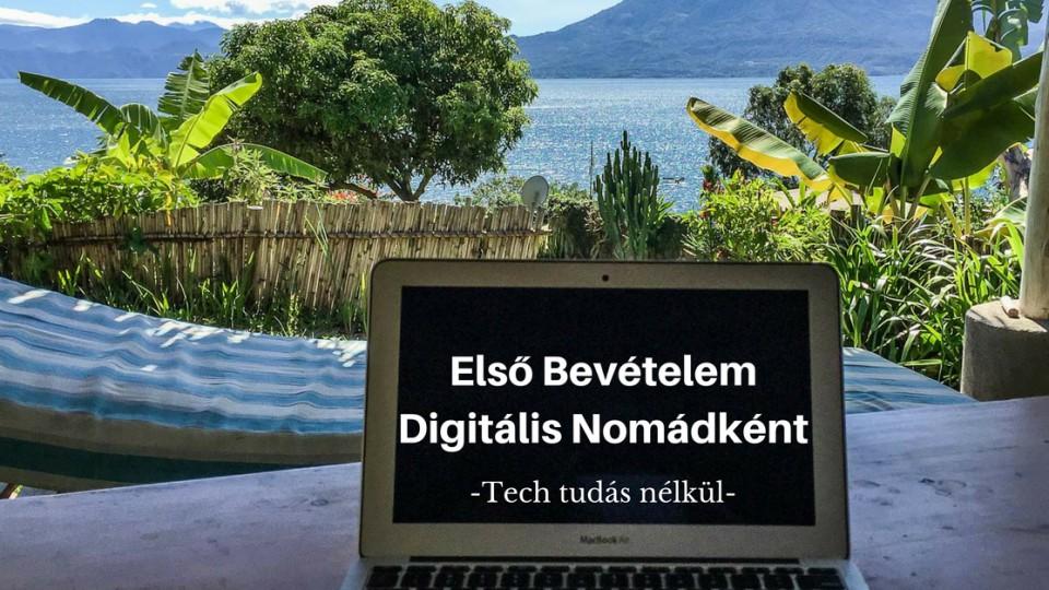 Első Bevételem Digitális Nomádként