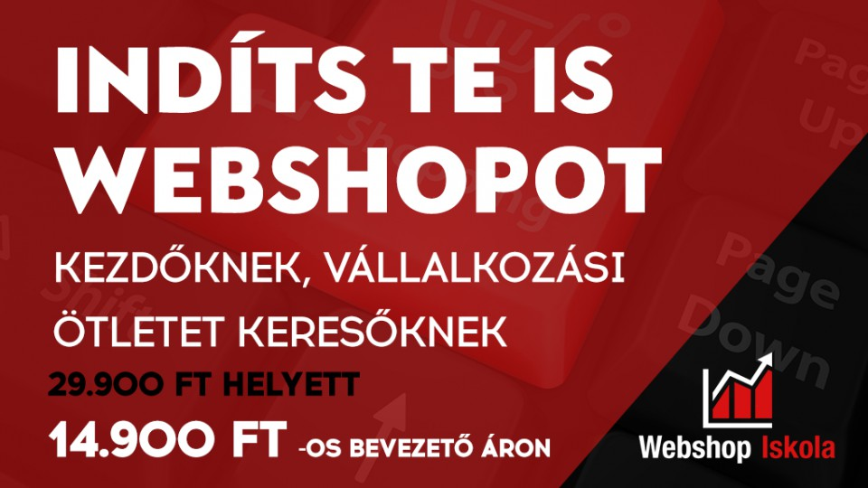Indíts Te is webshopot!