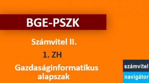 Számvitel 2 ZH 1 felkészítő