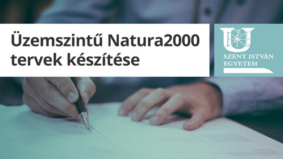 Üzemszintű Natura2000 tervek készítése