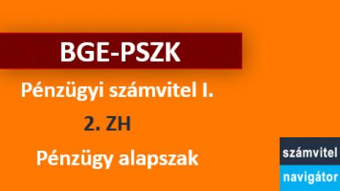 Pénzügyi számvitel 1 ZH2 felkészítő