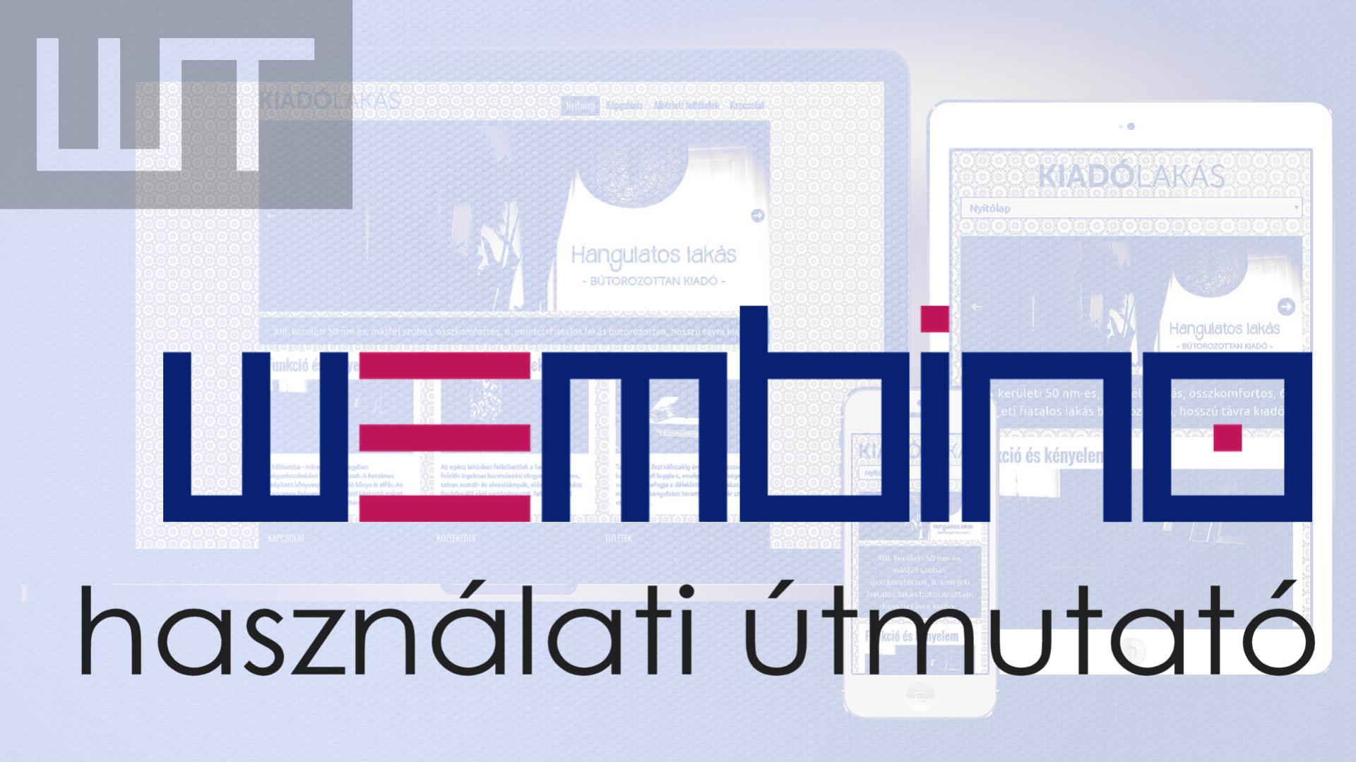 A Wembino weblapkészítő használata