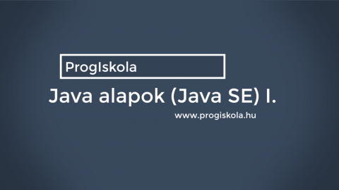 Java programozás alapjai