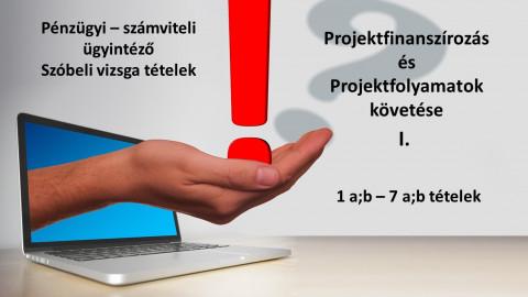 Pénzügyi-számviteli ügyintéző vizsgatételek - Projekt ismeretek I.
