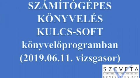 Gépi könyvlés Kulcs-Soft programon (2019.06.11. vizsgasor bemutatásával)