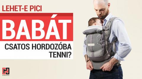 Szabad pici babát csatos hordozóba rakni? Nem árt neki?