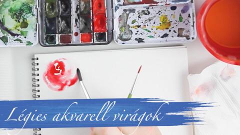 Fess Légies Akvarell Virágokat!