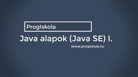 Java programozás 1. rész