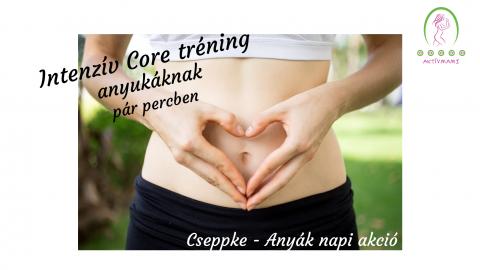 Aktívmami Core edzés anyukáknak