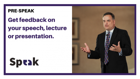 Get feedback on your speech, lecture or presentation