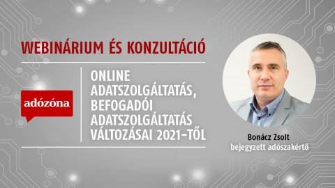 Online adatszolgáltatás, befogadói adatszolgáltatás változásai 2021-től